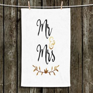 Unique Hanging Tea Towels | Zara Martina - Mr. And Mrs. Black Gold | Wedding Love Mr. And Mrs.