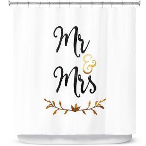 Premium Shower Curtains | Zara Martina - Mr. And Mrs. Black Gold