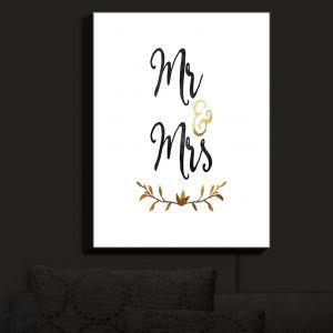 Nightlight Sconce Canvas Light | Zara Martina - Mr. And Mrs. Black Gold | Wedding Love Mr. And Mrs.