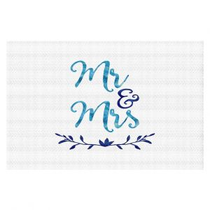 Decorative Floor Coverings | Zara Martina - Mr. And Mrs. Blues