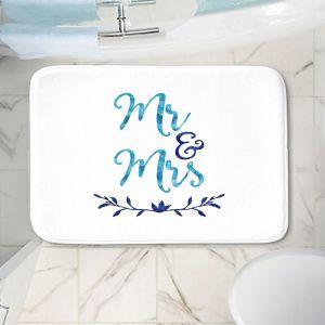 Decorative Bathroom Mats | Zara Martina - Mr. And Mrs. Blues