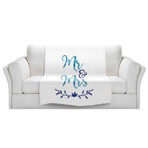 Artistic Sherpa Pile Blankets | Zara Martina - Mr. And Mrs. Blues