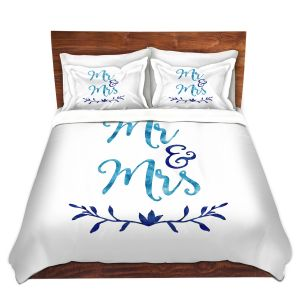 Artistic Duvet Covers and Shams Bedding | Zara Martina - Mr. And Mrs. Blues