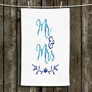 Unique Hanging Tea Towels | Zara Martina - Mr. And Mrs. Blues | Wedding Love Mr. And Mrs.