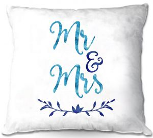 Decorative Outdoor Patio Pillow Cushion | Zara Martina - Mr. And Mrs. Blues