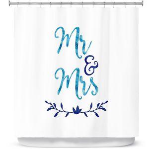 Premium Shower Curtains | Zara Martina - Mr. And Mrs. Blues