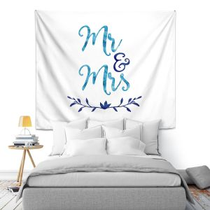 Artistic Wall Tapestry | Zara Martina - Mr. And Mrs. Blues