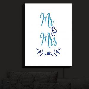 Nightlight Sconce Canvas Light | Zara Martina - Mr. And Mrs. Blues | Wedding Love Mr. And Mrs.