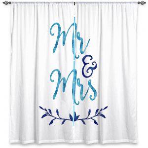 Decorative Window Treatments | Zara Martina - Mr. And Mrs. Blues