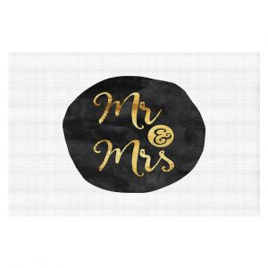 Decorative Floor Coverings | Zara Martina - Mr. And Mrs. Gold Black Circle
