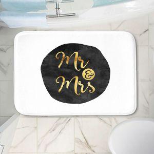 Decorative Bathroom Mats | Zara Martina - Mr. And Mrs. Gold Black Circle