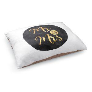 Decorative Dog Pet Beds | Zara Martina - Mr. And Mrs. Gold Black Circle