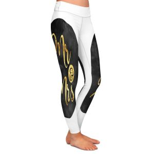 Casual Comfortable Leggings | Zara Martina - Mr. And Mrs. Gold Black Circle