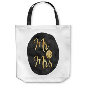 Unique Shoulder Bag Tote Bags |Zara Martina - Mr. And Mrs. Gold Black Circle
