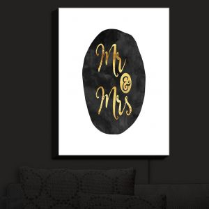 Nightlight Sconce Canvas Light | Zara Martina - Mr. And Mrs. Gold Black Circle | Wedding Love Mr. And Mrs. Circle