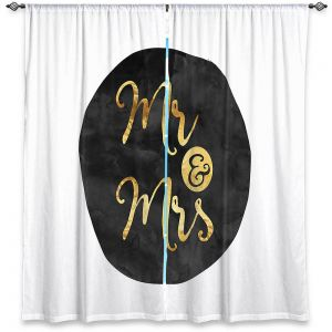 Decorative Window Treatments | Zara Martina - Mr. And Mrs. Gold Black Circle