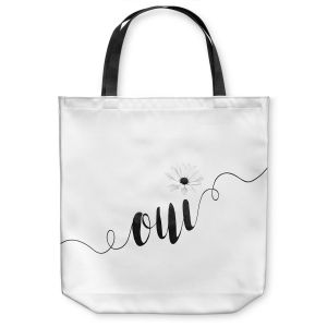 Unique Shoulder Bag Tote Bags |Zara Martina - Oui Daisy Black White