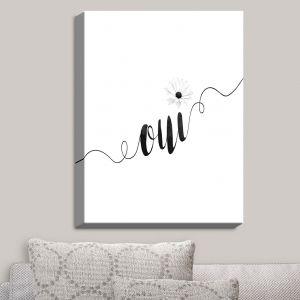 Decorative Canvas Wall Art | Zara Martina - Oui Daisy Black White | Oui French Daisy Flower