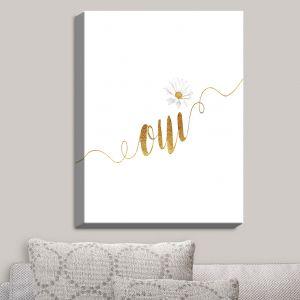 Decorative Canvas Wall Art | Zara Martina - Oui Daisy Gold White | Oui French Daisy Flower