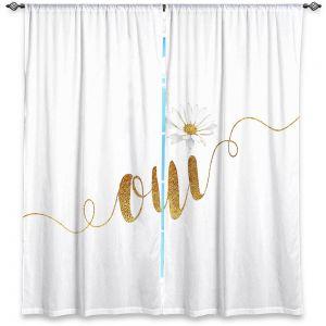 Decorative Window Treatments | Zara Martina - Oui Daisy Gold White