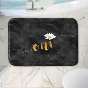 Decorative Bathroom Mats   Zara Martina - Oui Daisy Pattern Gold Black