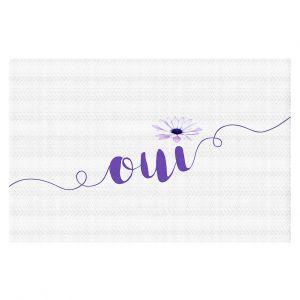 Decorative Floor Coverings | Zara Martina - Oui Daisy Purple White