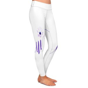 Casual Comfortable Leggings | Zara Martina - Oui Daisy Purple White