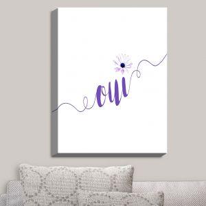 Decorative Canvas Wall Art | Zara Martina - Oui Daisy Purple White | Oui French Daisy Flower
