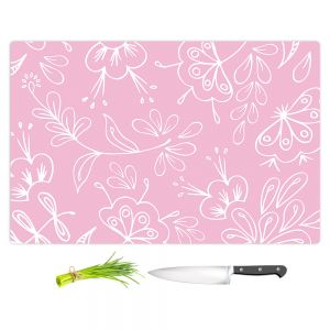 Artistic Kitchen Bar Cutting Boards | Zara Martina - Pink Flora Mix