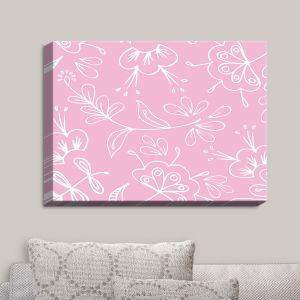 Decorative Canvas Wall Art | Zara Martina - Pink Flora Mix