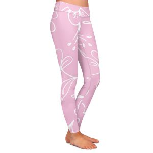 Casual Comfortable Leggings | Zara Martina - Pink Flora Mix