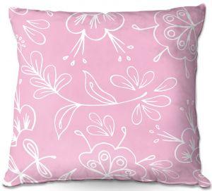 Decorative Outdoor Patio Pillow Cushion | Zara Martina - Pink Flora Mix