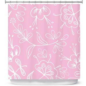Premium Shower Curtains | Zara Martina - Pink Flora Mix