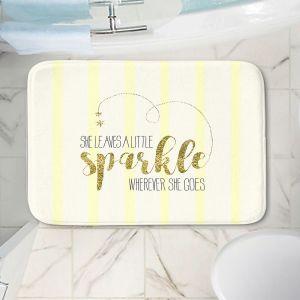 Decorative Bathroom Mats | Zara Martina - She Sparkles Stripe Yellow Gold