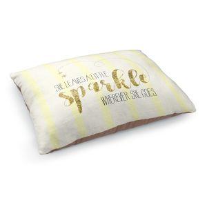 Decorative Dog Pet Beds   Zara Martina - She Sparkles Stripe Yellow Gold