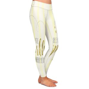 Casual Comfortable Leggings | Zara Martina - She Sparkles Stripe Yellow Gold