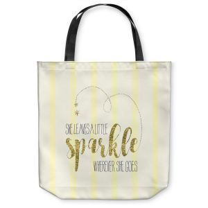 Unique Shoulder Bag Tote Bags |Zara Martina - She Sparkles Stripe Yellow Gold