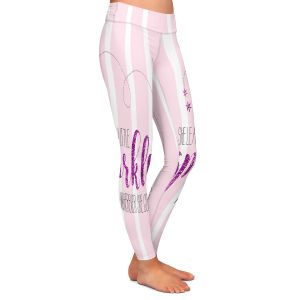 Casual Comfortable Leggings | Zara Martina - She Sparkles Stripe l Pinks