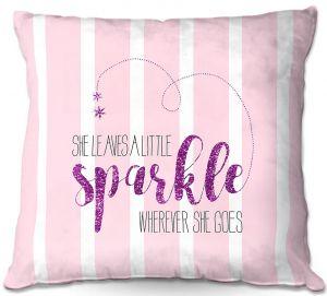 Throw Pillows Decorative Artistic | Zara Martina - She Sparkles Stripe l Pinks