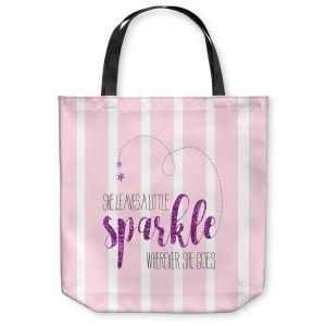 Unique Shoulder Bag Tote Bags |Zara Martina - She Sparkles Stripe l Pinks