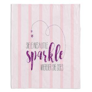 Artistic Sherpa Pile Blankets | Zara Martina - She Sparkles Stripe ll Pinks