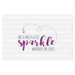 Decorative Floor Coverings | Zara Martina - She Sparkles White Pink