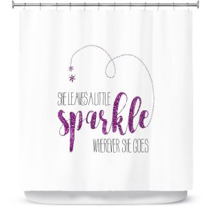 Premium Shower Curtains | Zara Martina - She Sparkles White Pink