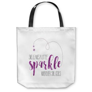 Unique Shoulder Bag Tote Bags |Zara Martina - She Sparkles White Pink