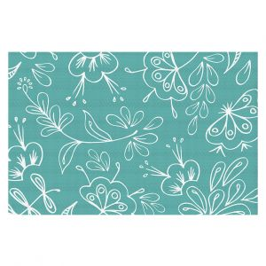 Decorative Floor Coverings | Zara Martina - Teal Flora Mix