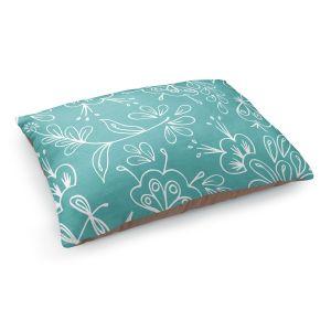 Decorative Dog Pet Beds | Zara Martina - Teal Flora Mix