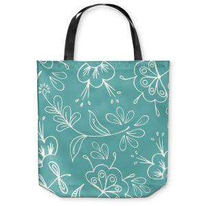 Unique Shoulder Bag Tote Bags | Zara Martina - Teal Flora Mix
