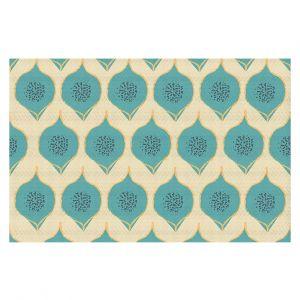 Decorative Floor Coverings | Zara Martina - Teal Petals