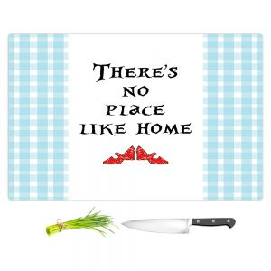 Artistic Kitchen Bar Cutting Boards | Zara Martina - Theres No Place Like Home l | Inspiring Children Lady Like Ruby Slippers