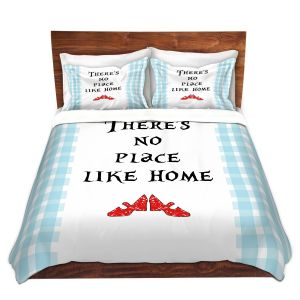 Artistic Duvet Covers and Shams Bedding   Zara Martina - Theres No Place Like Home l   Inspiring Children Lady Like Ruby Slippers